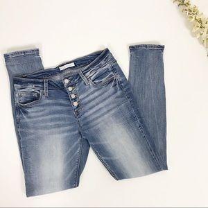 R1959 Virgo Button Fly Light-wash Skinny Jean